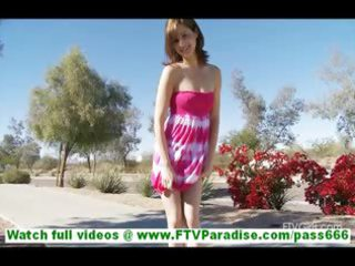 casey nasty little redhead flashing love melons