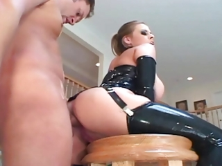 breasty mother i fucking in latex nylons and a