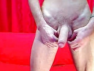large uncut penis masturbation