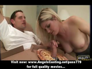 good astounding golden-haired lady fucking with