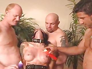 wax punishment with hardcore for dark brown