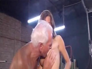 captivating hotty and old guy