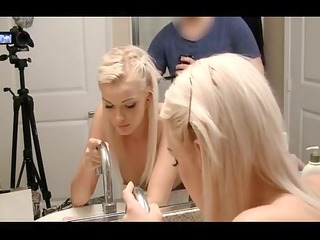 cute blonde fucked from behind