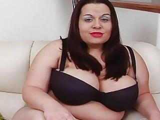 hot massive darksome haired momma with additional