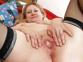 messy old grandma snatch widening and masturbation
