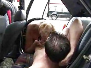 aged woman drilled in car british
