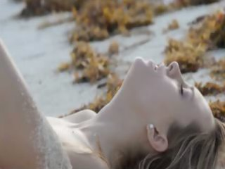 exquisite gangbang on the beach in art video