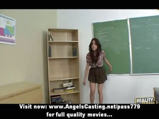 wicked redhead schoolgirl spanked by teacher and