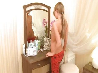 golden-haired legal age teenager ivana awaiting