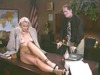 horney golden-haired student bonks her teacher
