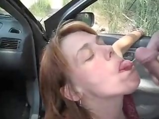 car oral-stimulation enjoyment and semen flow