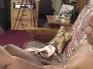 chubby darksome brown blows darksome chap and