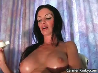 perverted carmen is solo this time and she is