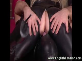 leather clad bitch goddess demands a licking