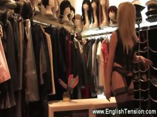 female-dom shows off her high heel collection