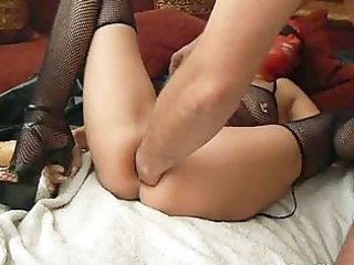 extraordinary anal fist drilled housewife