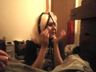 goth sweetheart engulfing sex-toy in my panties