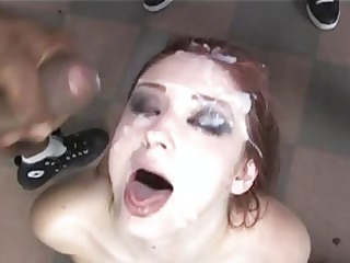 violet mnoroe blessed with mans milk on face