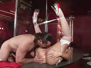 a club stripper receives drilled