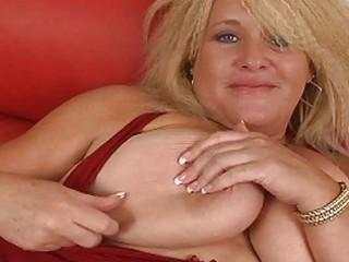 giant golden-haired momma with huge bosom