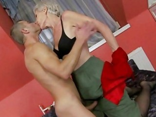 sexy granny enjoys sex with juvenile chap