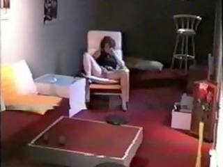 hidden web camera in camping throne room aged