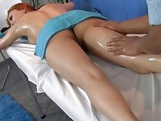 redhead screwed at in nature massage session