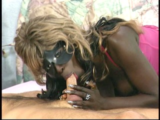 masked german swarthy beauty receives a load -