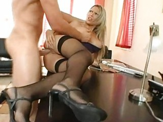 non-professional breasty blond wench gagging