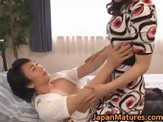 eri nakata japanese aged lady engages
